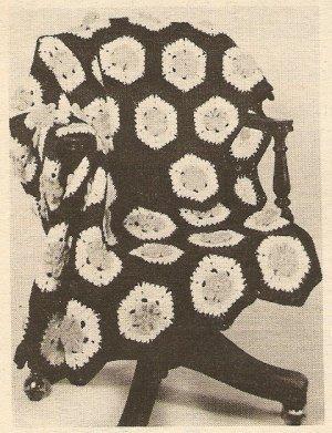 Crochet - Flower Motif Afghan (ref: e1208c)