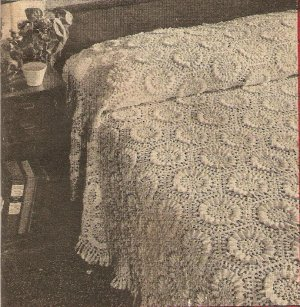 Crochet - The Sunflower Bedspread (ref: e1216c)