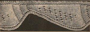 Knit  - Pineapple Edging (ref: e1222k)