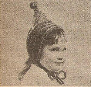 Knit  - Pixie Cap Hat (ref: e1254k)