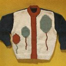 Knit  - Child's Cardigan Sweater (ref: e1256k)