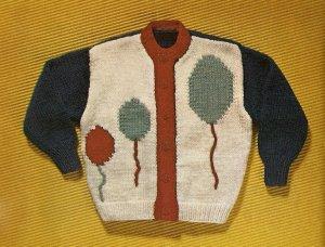 Knit  - Child's Cardigan Sweater (ref: e1256k)