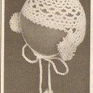 Tatted - Infant's Bonnet (ref: e1276t)