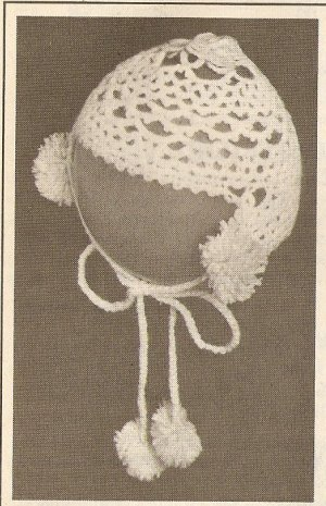 Tatted - Infant's Bonnet (ref: e1276t)