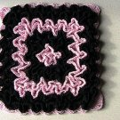 Wiggly Potholder - Crochet - Pink N' Black