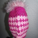 Crochet PonyTail Hat All Pinks - Girls