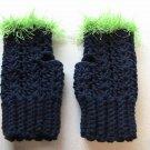 SEAHAWKS Fingerless Crochet Mitts NFL Seattle