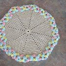 Crochet Ecru and Pastel Doily by Vintage Stitchez
