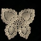 Crochet Ecru Butterfly Coaster or Doily