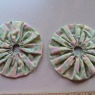 Pair - GIANT Quilting Yo-Yo's - Green Pastels