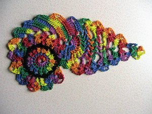RAINBOW Bulls Eye  Paisley
