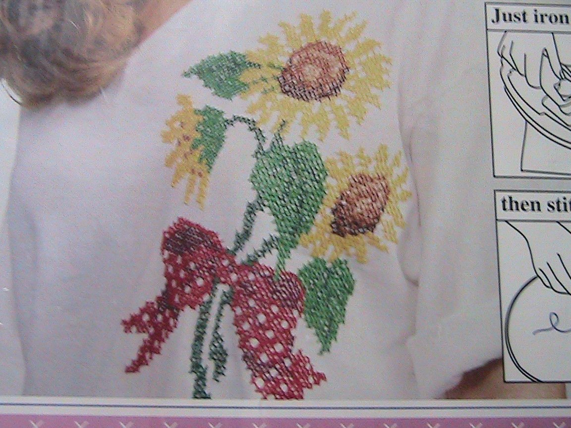 Countless Cross Stitch Color Iron-On Transfer Kit SUNFLOWERS