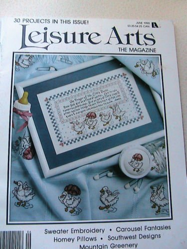 Cross Stitch Leisure Arts June 1990 ~ 30 Projects!