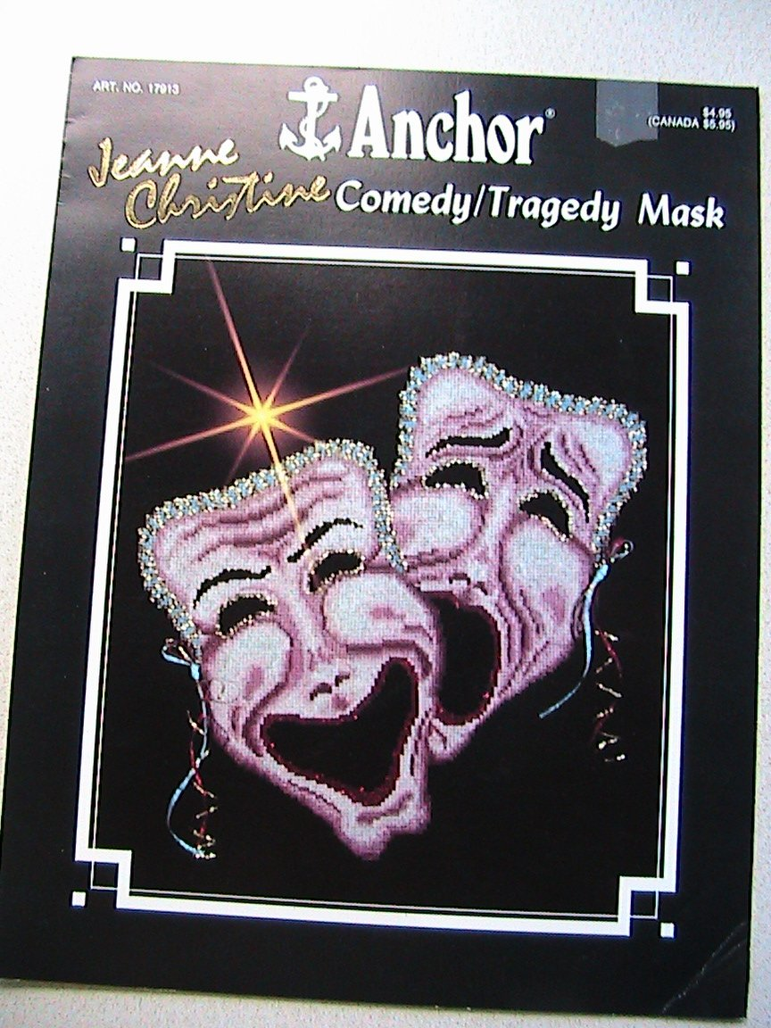 Comedy N' Tragedy Mask - Cross Stitch