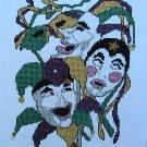Mimes Pierrot Joker MASKS - Cross Stitch