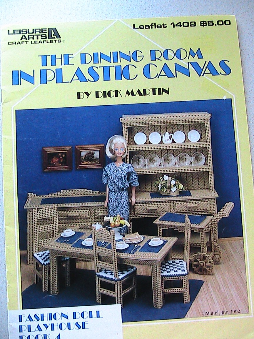 SOLD-The DINING ROOM in Plastic Canvas - Leisure Arts Leaflet 1409 Book 4