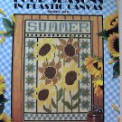 Cross Stitch FOUR SEASONS in Plastic Canvas Leisure Arts Leaflet 1625 Book 6