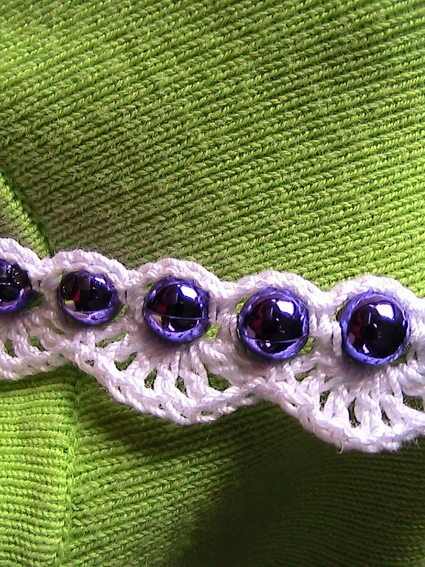 Purple Beaded Crochet Garland - 36 Feet