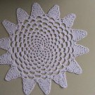 Hand Crochet White Spiral Star by Vintage Stitchez