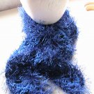 Crocheted Royal Blue Scarf