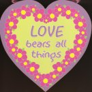 Wall quotes - Love Bears All Things Heart Wall Quotes wall quotes sayings home art decor decal