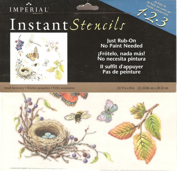 Instant Stencils Product : Wallies imperial instant garden stencils butterfly
