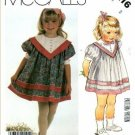 McCall's 2216 - Toddler Girls dress Sewing Pattern CUT