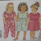 Butterick 3269 Toddler Dress Jumpsuit vintage sewing pattern CUT