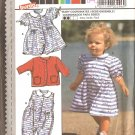 Burda 3296 Toddler Girl Dress vintage sewing pattern CUT
