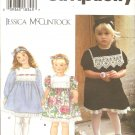 Simplicity 9835 Toddler Girls dress Sewing Pattern UNCUT