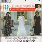 Simplicity 7163 Dress Robe plus size 26W - 32W Sewing Pattern