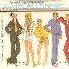 McCall's 5685 Sportswear Sewing Pattern size Large UNCUT