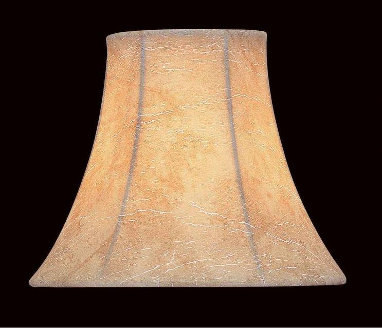 Lite Source - CH530-6 - Candelabra Shade Faux Leather Bell