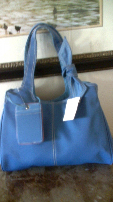 Liz Claiborne blue microfiber purse