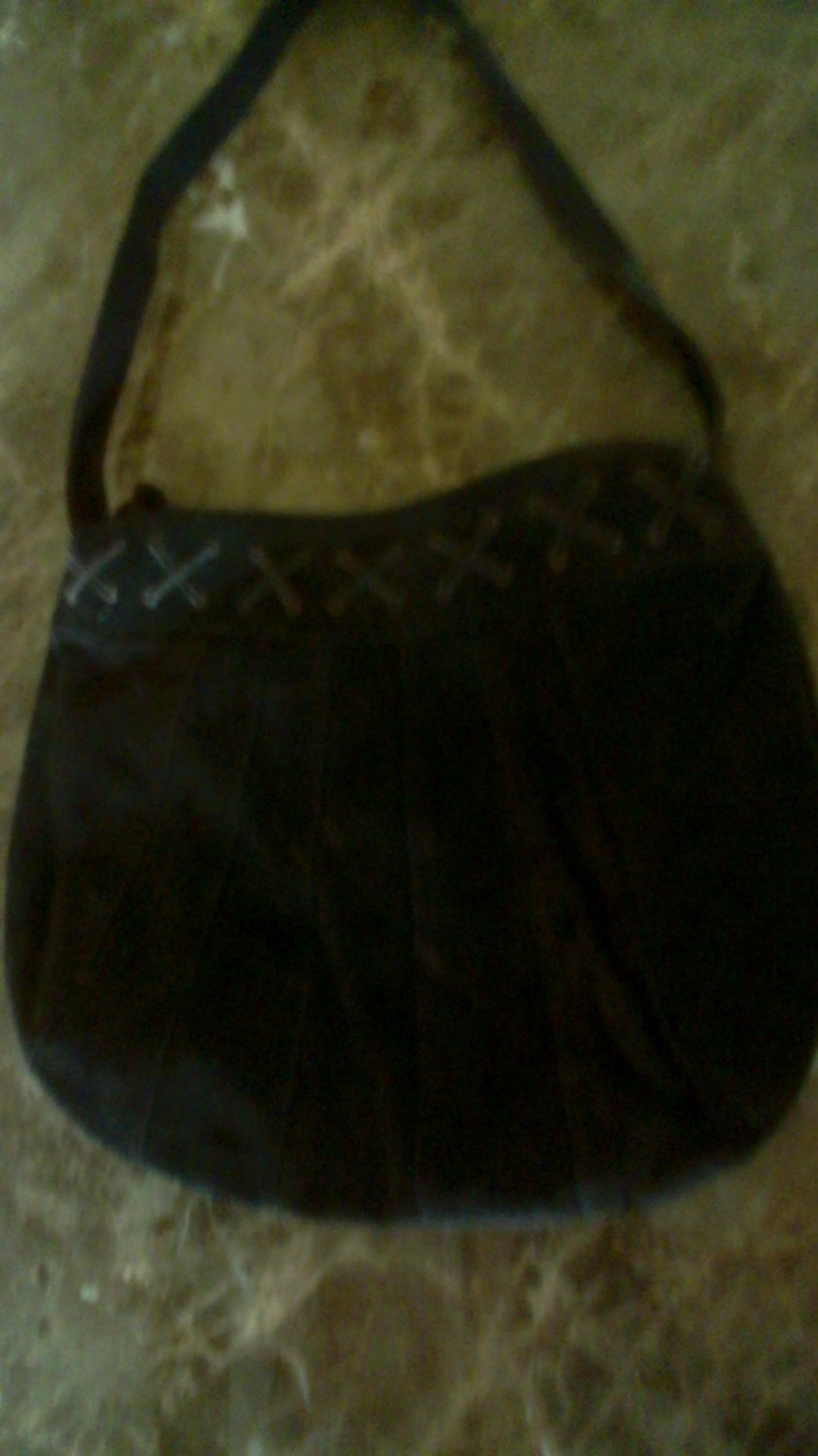 Brown suede purse