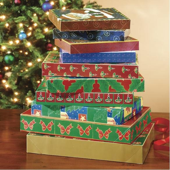 Christmas gift boxes with lids assorted