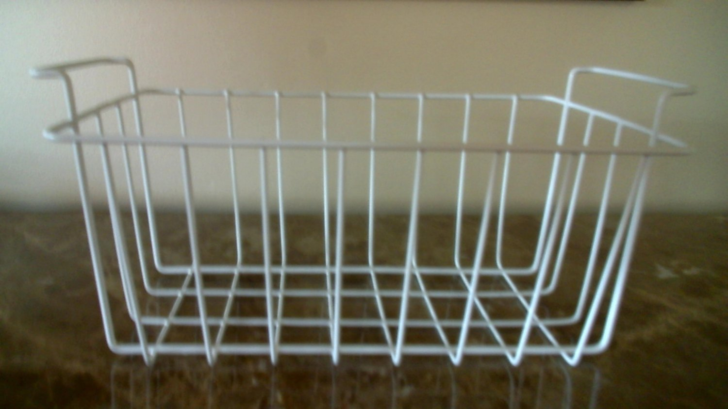 """Wire basket organizer rectangle with handles 8"""" tall x 17"""" wide x  8 3/4"""" deep"""