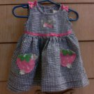 Strawberry & Gingham Baby Girl's Dress - 12 months old