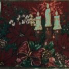 Poinsettia Holiday Decorative Christmas Needlepoint Pillow 19""