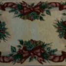 Wreath Decorative Christmas Needlepoint Throw Pillow 19""
