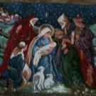 Nativity Decorative Christmas Needlepoint Throw Pillow 19""