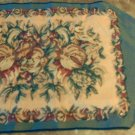 Yellow Blue Floral Tapestry Table Runner Cloth 36""