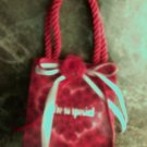Valentine day gift music box bag - red bow