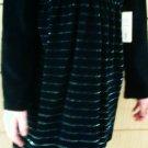 Best Girls Black & Silver Velvet Dress or Top - Size 5T