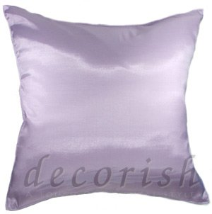 Silk Decorative Pillow Cover - Violet Color