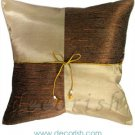 VEGAS GOLD Silk Throw Decorative Pillow Covers - Checkered Design