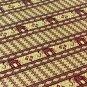 Reversible Thai Silk Table Cloths / Covers with wonderful Thai Elephant stripes Maroon