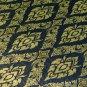 Reversible Thai Silk Table Cloth w/ Thai Traditional Dark Blue / Gold