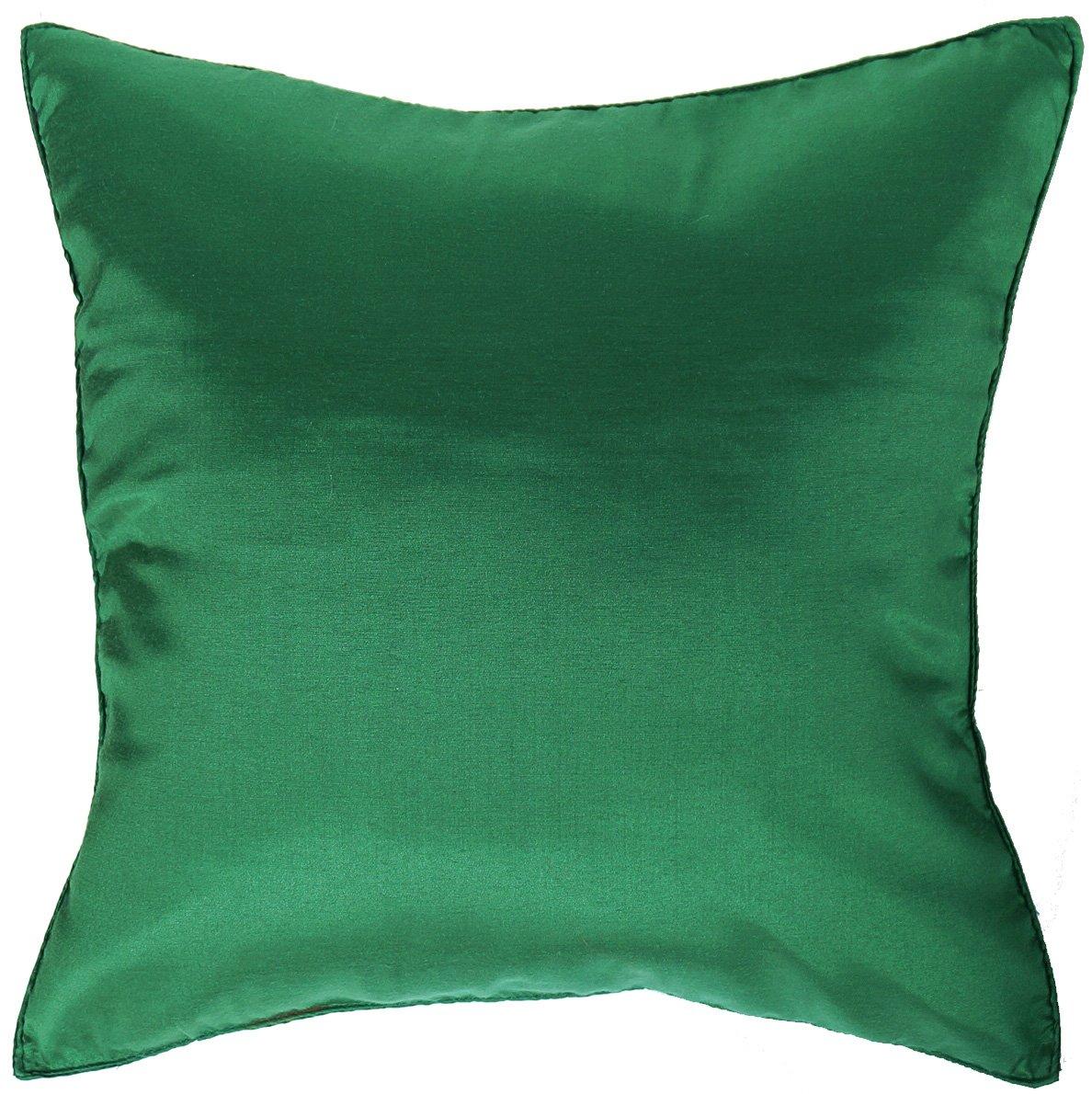 christmas green silk throw decorative pillow cases for sofa