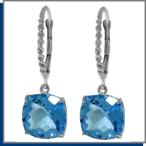 7.20 CT BlueTopaz Sterling Silver Dangle Earrings